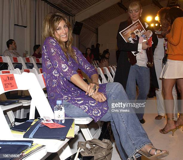 Jennifer Esposito during MercedesBenz Fall 2004 Fashion Week at Smashbox Studios Enyce and Lady Enyce Front Row and Backstage at Smashbox Studios in...