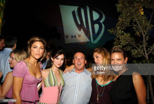 Jennifer Esposito Laura Breckenridge David Janollari president of WB Entertainment Lizzy Caplan and Kiele Sanchez of Related