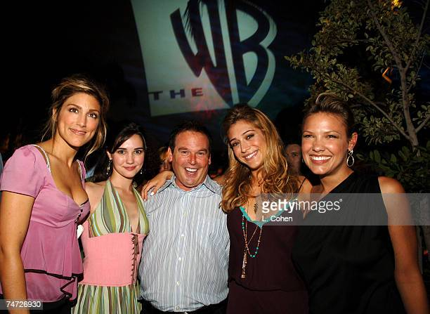 Jennifer Esposito Laura Breckenridge David Janollari president of WB Entertainment Lizzy Caplan and Kiele Sanchez of Related during the 2005 WB...