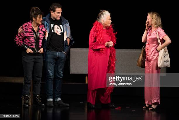 Jennifer Esposito Yul Vasquez Lois Smith and Amy Hargreaves perform during 24 Hour Plays on Broadway at American Airlines Theatre on October 30 2017...