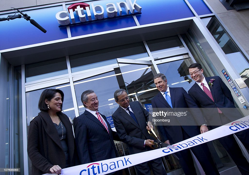 Citigroup CEO Vikram Pandit Opens Flagship Bank Branch In Union Square