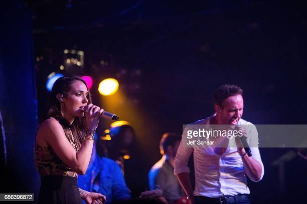 Jennifer Fielder of Smithfield and Drew Baldridge peform at Joe's On Weed Street on May 20 2017 in Chicago Illinois