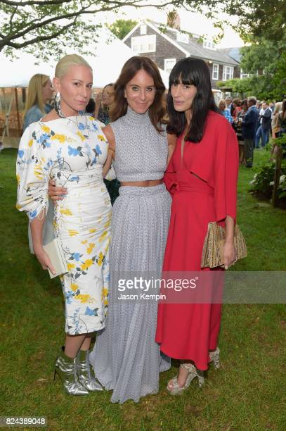 Jennifer Fisher Alison Loehnis and Athena Calderone attend The GOOD Foundation's Hamptons Summer Dinner cohosted by NETAPORTER on July 29 2017 in...