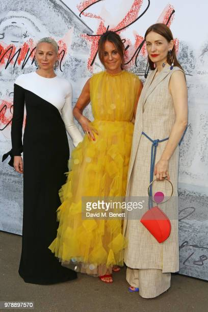 Jennifer Fisher Alison Loehnis and Roksanda Ilincic attend the Serpentine Summper Party 2018 at The Serpentine Gallery on June 19 2018 in London...