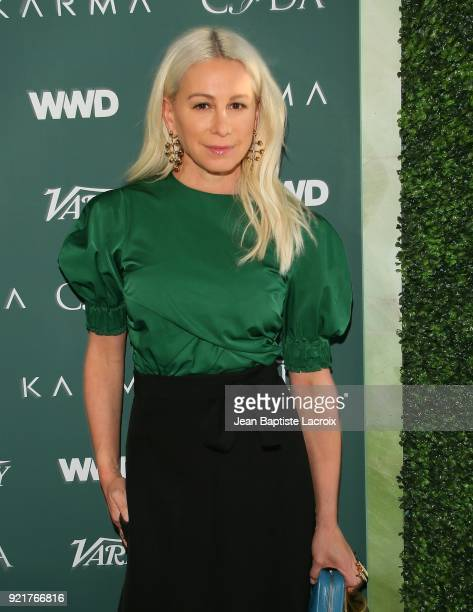 Jennifer Fisher arrives to the Council of Fashion Designers of America luncheon held at Chateau Marmont on February 20 2018 in Los Angeles California