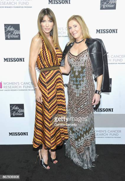 Jennifer Flavin and Janet Crown at SAKS FIFTH AVENUE and WOMENS CANCER RESEARCH FUND celebration of KEY TO THE CURE with MISSONI at Mr Chow on...