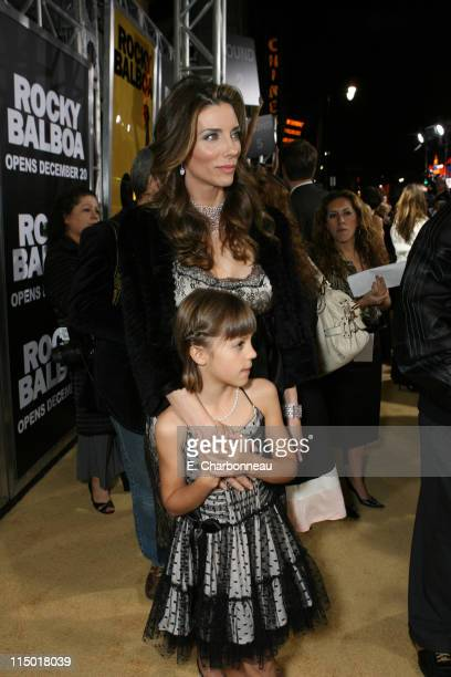 Jennifer Flavin and Sistine Stallone during MGM Pictures Columbia Pictures and Revolution Studios present the World Premiere of 'Rocky Balboa' at...