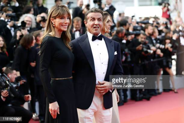 Jennifer Flavin and Sylvester Stallone attend the closing ceremony screening of The Specials during the 72nd annual Cannes Film Festival on May 25...