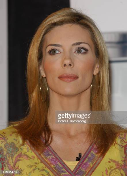Jennifer Flavin during Sylvester Stallone and Jennifer Flavin Announce Instone Performance Packets at Planet Hollywood in New York City New York...