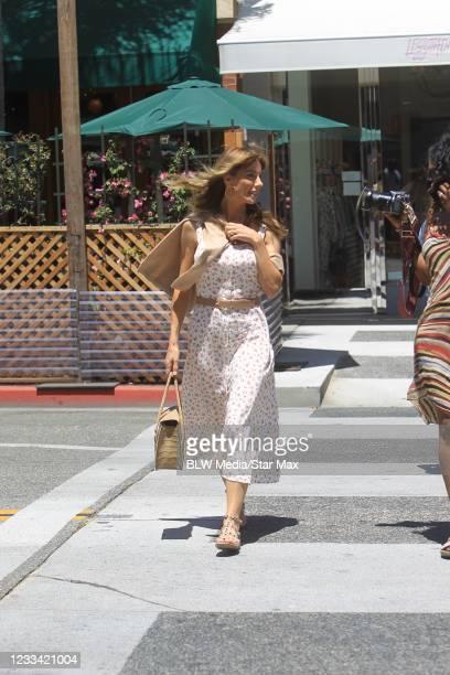 Jennifer Flavin is seen on June 12, 2021 in Los Angeles, California.