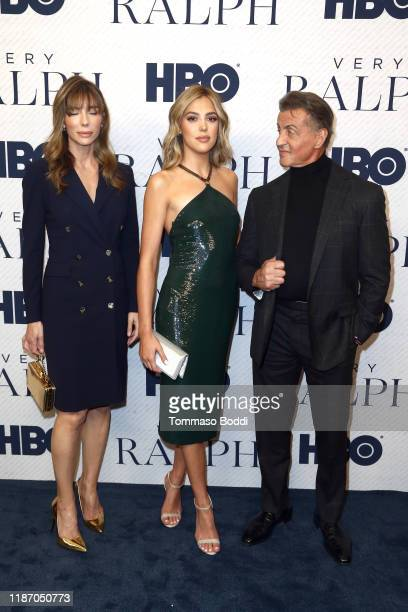 """Jennifer Flavin, Sistine Stallone and Sylvester Stallone attend the Premiere Of HBO Documentary Film """"Very Ralph"""" at The Paley Center for Media on..."""