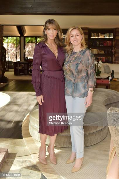 Jennifer Flavin Stallone and Melina Esrailian attend Diane von Furstenberg and Academy Museum of Motion Pictures Host 6th Annual Oscars Luncheon to...