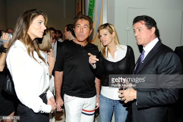 Jennifer Flavin Stallone Steve Wynn Andrea Hissom and Sylvester Stallone attend GALERIE GMURZYNSKA at Art Basel Miami Beach 2009 at Miami Beach...