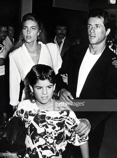 Jennifer Flavin Sylvester Stallone and Sage Stallone