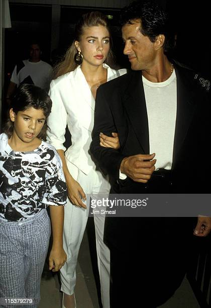 Jennifer Flavin Sylvester Stallone and son Sage Stallone
