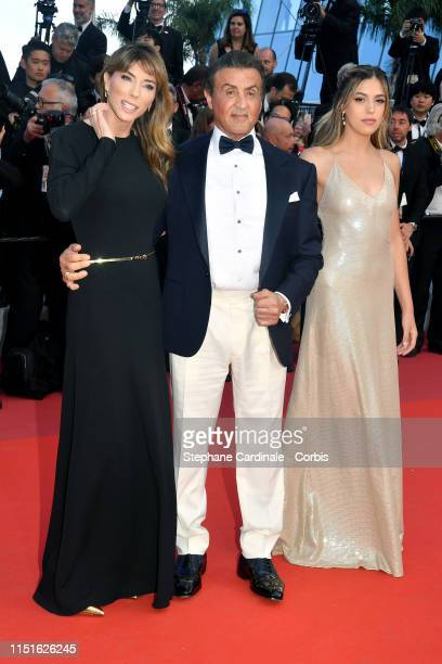 Jennifer Flavin Sylvester Stallone and Sophia Rose Stallone attend the closing ceremony screening of The Specials during the 72nd annual Cannes Film...