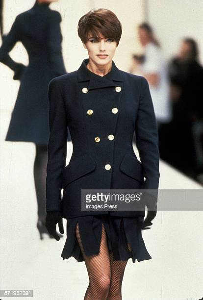 Jennifer Flavin wife of Sylvester Stallone on the catwalk in an undated photo