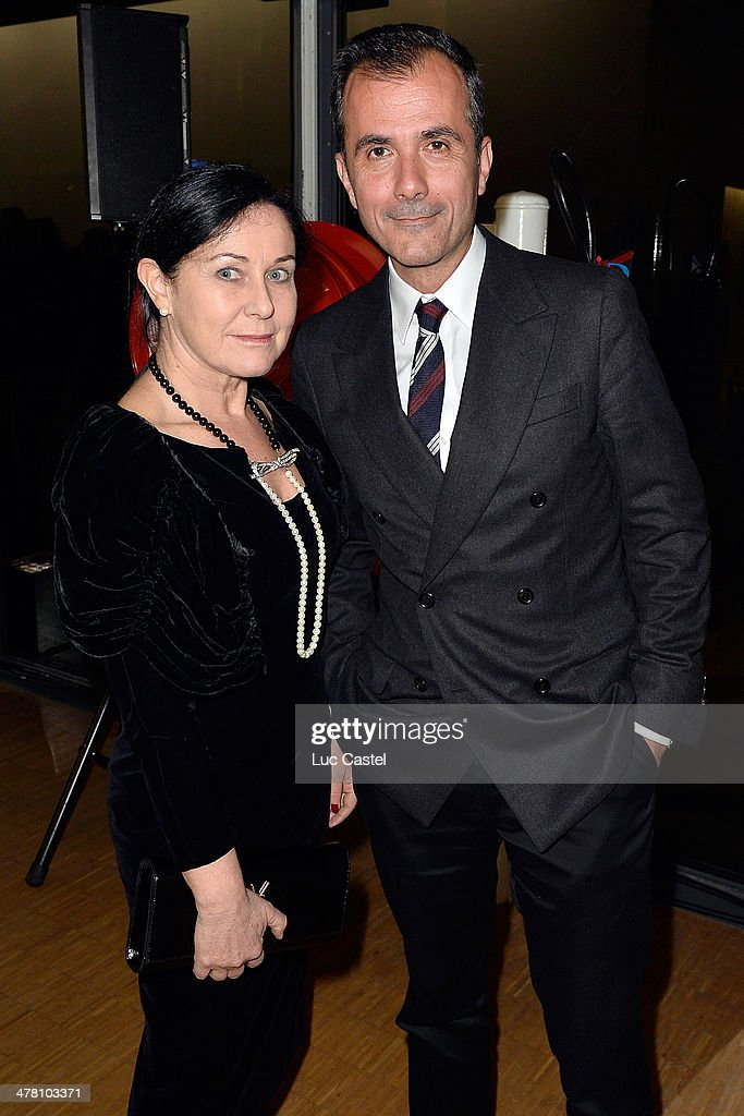 Jennifer Flay and Martin Bethenod attend the 'Societe des amis du Musee D'Art Moderne' : Annual Dinner. Held at Centre Pompidou on March 11, 2014 in Paris, France.