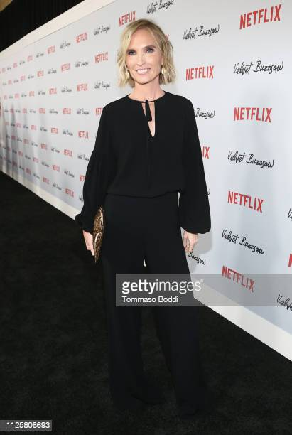 Jennifer Fox attends the Velvet Buzzsaw Los Angeles premiere at The Egyptian Theatre on January 28 2019 in Los Angeles California