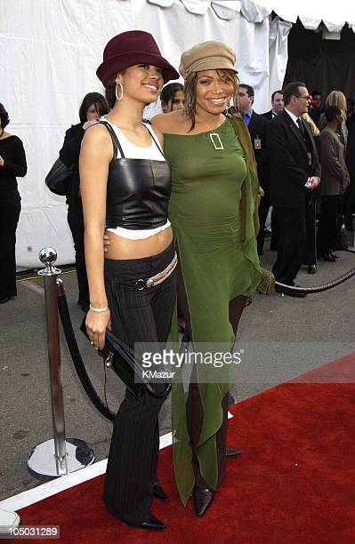 Jennifer Freeman and Tisha CampbellMartin during The 30th Annual American Music Awards Arrivals at Shrine Auditorium in Los Angeles California United...