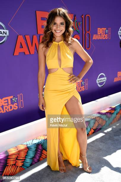 Jennifer Freeman attends the 2018 BET Awards at Microsoft Theater on June 24 2018 in Los Angeles California