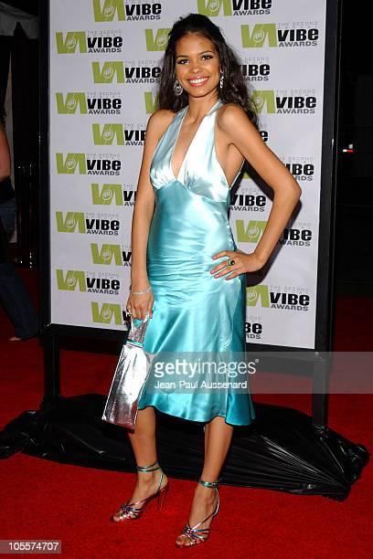 Jennifer Freeman during 2004 Vibe Awards Arrivals at Barker Hanger in Santa Monica California United States