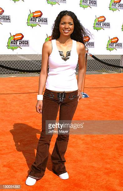 Jennifer Freeman during Nickelodeon's 16th Annual Kids' Choice Awards 2003 Arrivals at Barker Hanger in Santa Monica California United States