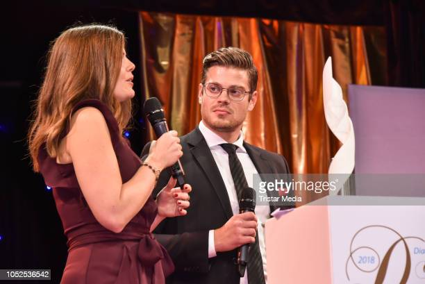 Jennifer Fuchsberger and Julien Fuchsberger attend the 8th Diabetes Charity Gala at Tipi am Kanzleramt on October 18, 2018 in Berlin, Germany.