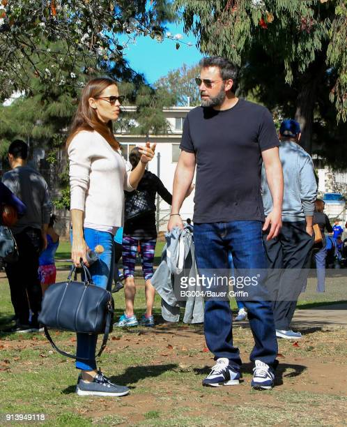 Jennifer Garner and Ben Affleck are seen on February 03 2018 in Los Angeles California