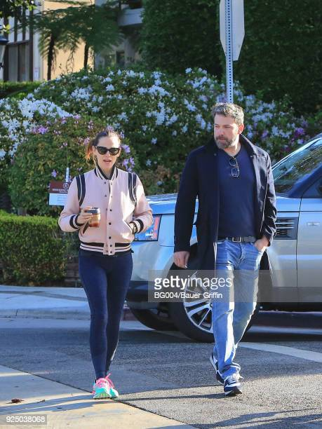 Jennifer Garner and Ben Affleck are seen on February 27 2018 in Los Angeles California