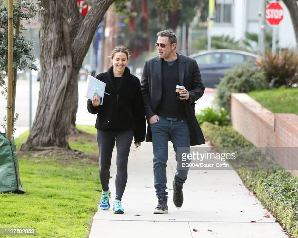 Jennifer Garner and Ben Affleck are seen on February 27 2019 in Los Angeles California