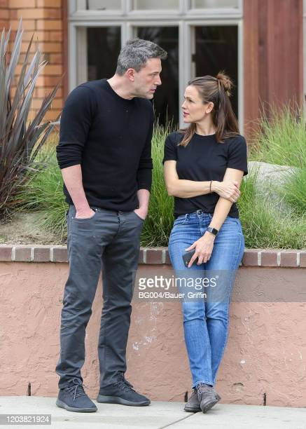Jennifer Garner and Ben Affleck are seen on February 27, 2020 in Los Angeles, California.