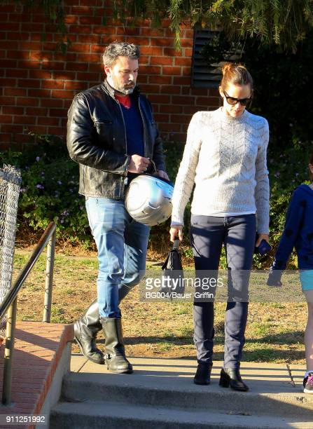 Jennifer Garner and Ben Affleck are seen on January 27 2018 in Los Angeles California