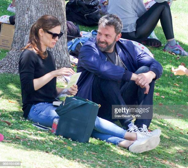 Jennifer Garner and Ben Affleck are seen on June 02 2018 in Los Angeles California
