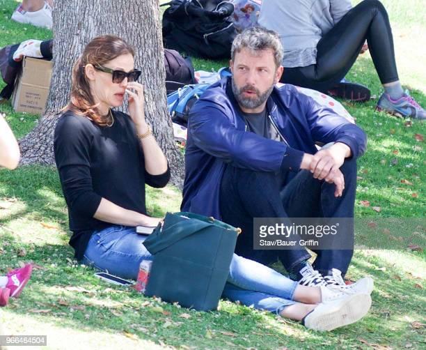 Jennifer Garner and Ben Affleck are seen on June 02 2018 in Los Angeles California