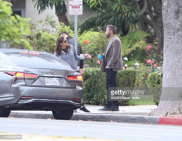 Jennifer Garner and Ben Affleck are seen on May 13 2019 in Los Angeles California