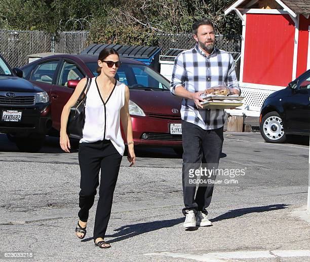 Jennifer Garner and Ben Affleck are seen on November 13 2016 in Los Angeles California