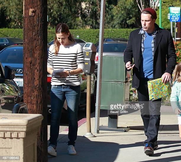 Jennifer Garner and Ben Affleck are seen on November 14 2015 in Los Angeles California