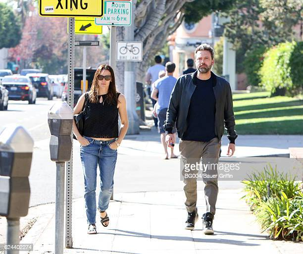 Jennifer Garner and Ben Affleck are seen on November 19 2016 in Los Angeles California