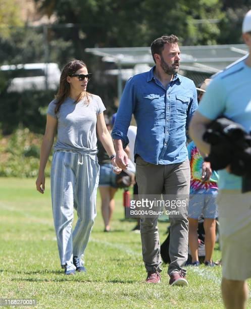 Jennifer Garner and Ben Affleck are seen on September 14 2019 in Los Angeles California