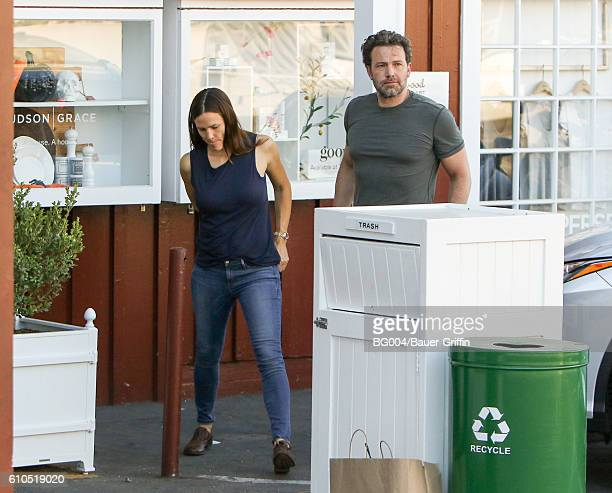 Jennifer Garner and Ben Affleck are seen on September 26 2016 in Los Angeles California