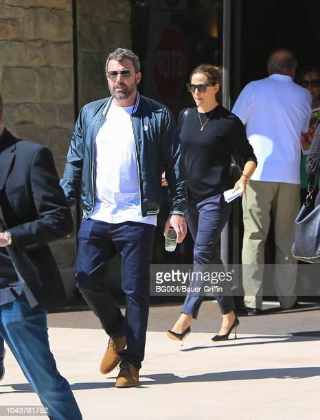 Jennifer Garner and Ben Affleck are seen on September 30 2018 in Los Angeles California