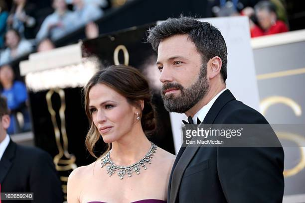 Jennifer Garner and Ben Affleck arrive at the 85th Annual Academy Awards at Hollywood Highland Center on February 24 2013 in Hollywood California