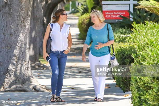 Jennifer Garner and Ben Affleck's mother Christine Anne Boldt are seen on August 1 2017 in Los Angeles California