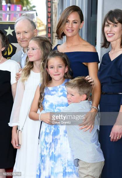 Jennifer Garner and family Honored With Star On The Hollywood Walk Of Fame on August 20 2018 in Hollywood California