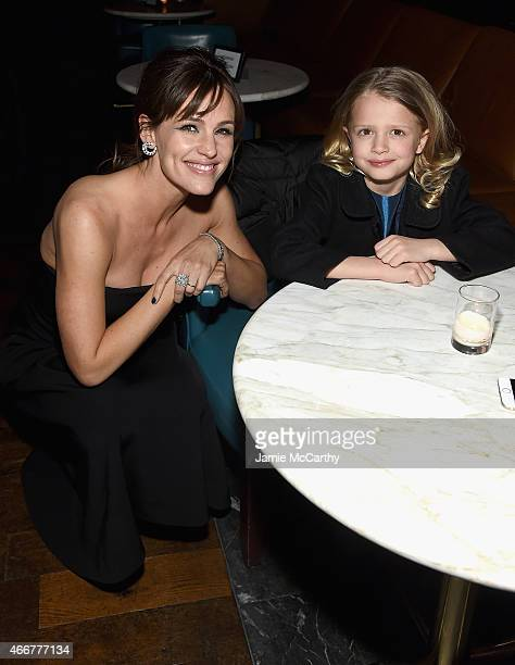 Jennifer Garner and Giselle Eisenberg attend the Danny Collins New York Premiere after party at the Stone Rose Lounge on March 18 2015 in New York...