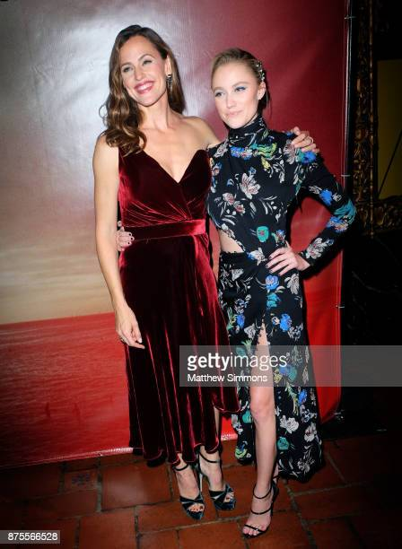 Jennifer Garner and Maika Monroe and at the premiere of IFC Films' 'The Tribes Of Palos Verdes' at The Theatre at Ace Hotel on November 17 2017 in...