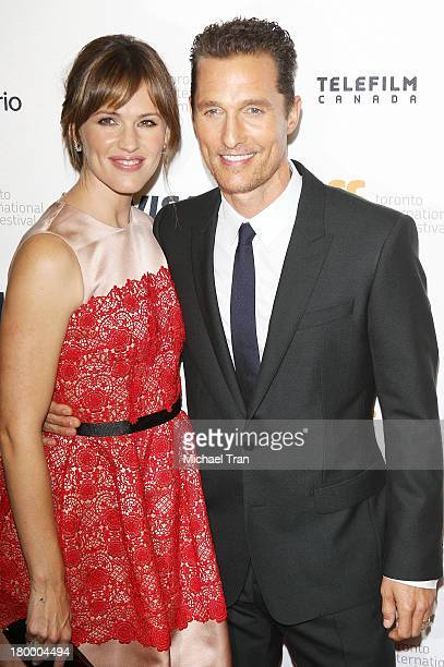 Jennifer Garner and Matthew McConaughey arrive at the Dallas Buyers Club premiere during the 2013 Toronto International Film Festival held at...