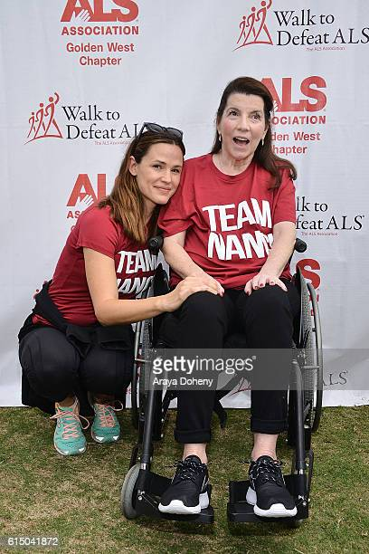 Jennifer Garner and Nanci Ryder attend the The ALS Association Golden West Chapter Los Angeles County Walk To Defeat ALS at Exposition Park on...