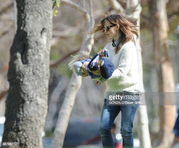 Jennifer Garner and Samuel Affleck are seen on February 08 2014 in Los Angeles California